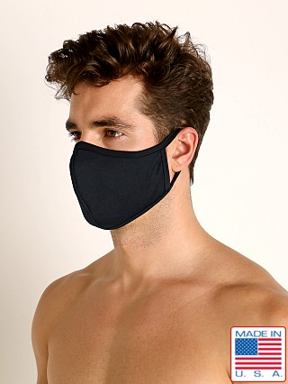 LASC Stretch Cotton Face Mask Black