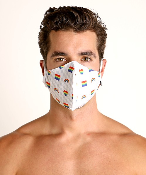 Tulio Face Mask Rainbow Hearts and Flags