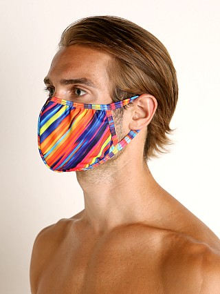 Complete the look: Rick Majors Fashion Face Mask Candy Stripe