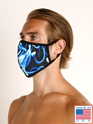 Rick Majors Fashion Face Mask Blue Smoke