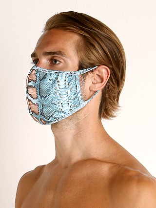 Complete the look: Rick Majors Fashion Face Mask Blue Snake