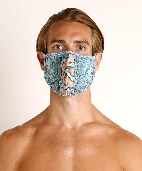 Rick Majors Fashion Face Mask Blue Snake