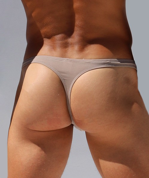 Rufskin Nas Stretch Microfiber Thong Brief Tan