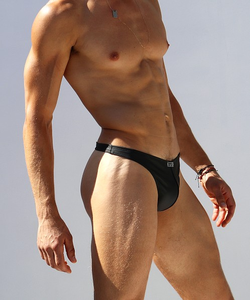Rufskin Julius Rubberized Thong Black