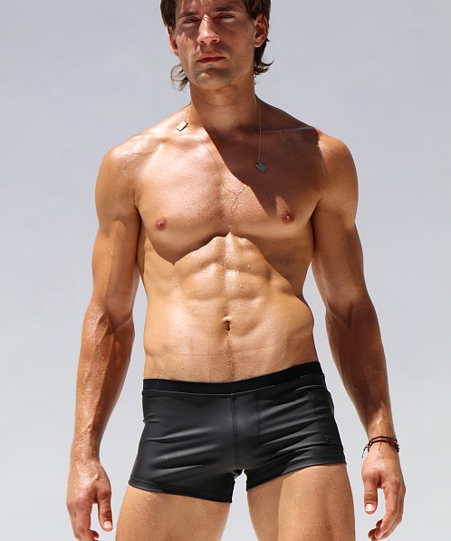 Rufskin Caliente Rubberized Sport Short Black