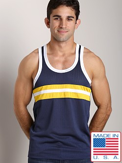 Pistol Pete Contender Tank Navy/Yellow