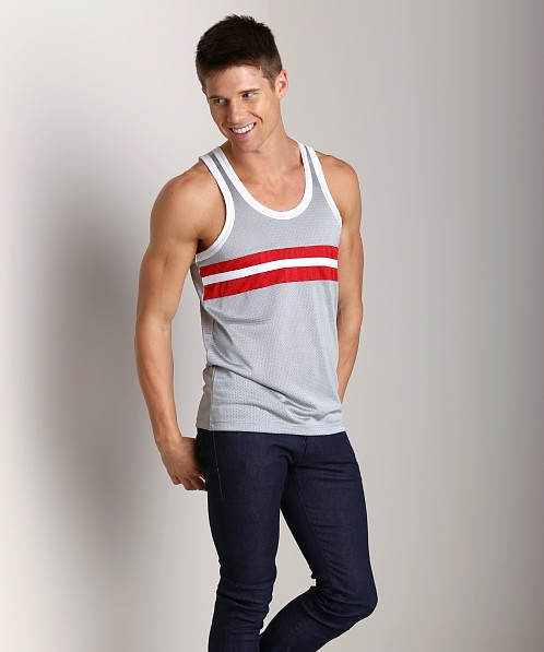 Pistol Pete Contender Tank Silver/Red