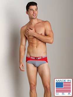 Pistol Pete Cruiser Swim Brief W/Belt And Buckle Red/Gray
