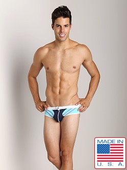 Pistol Pete Jet Swim Brief Navy/Sky