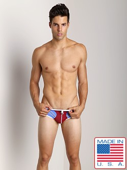 Pistol Pete Jet Swim Brief Wine/Aqua