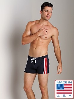 Pistol Pete Jock Short Navy/Red