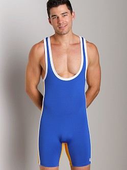 Pistol Pete Jock Wrestling Singlet Royal/Yellow