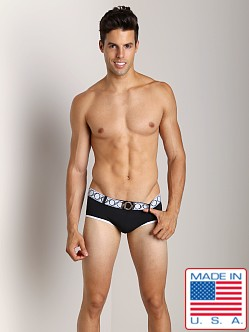 Pistol Pete Revolver Swim Brief W/Belt And Buckle Black