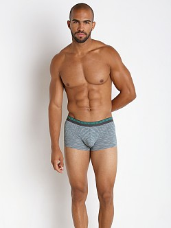 Hugo Boss Heather Stripes Boxer Green