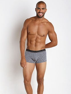Hugo Boss Heather Stripes Boxer Charcoal