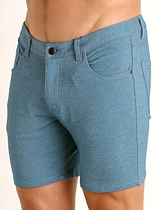 St33le Knit Jeans Shorts Heather Teal