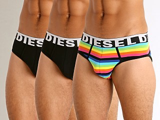 Diesel Andre Briefs 3-Pack Multistripes/Black/Black