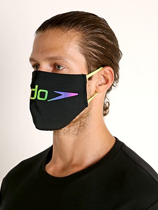 Model in black/pride Speedo Limited Edition The One Face Mask Big Pride