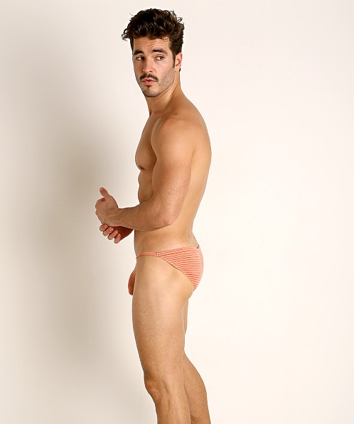 Rick Majors Vintage Stripe Sports Brief Peach
