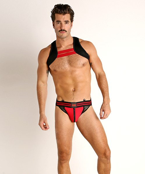 Cell Block 13 Axiom Zipper Jockstrap Red