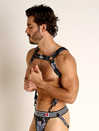 Model in grey Cell Block 13 Cadet Harness