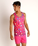 St33le Printed Stretch Mesh Tank Lollipops, view 2
