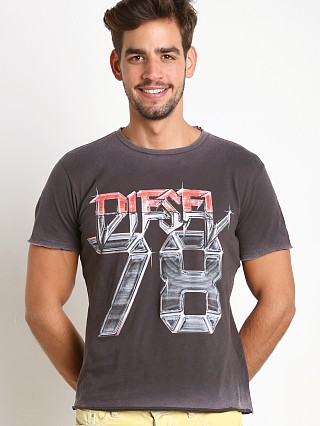 Diesel T-Joe Acid Wash 30's Cotton Jersey T-Shirt Black