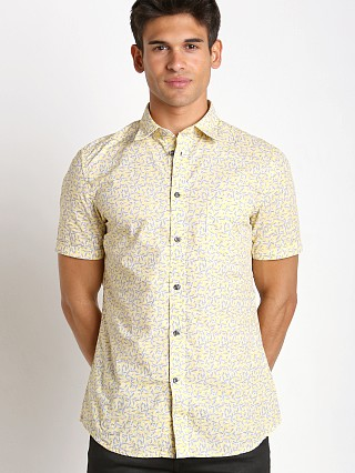Diesel S-Palms Allover Print Shirt Yellow