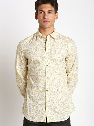 Diesel S-Palong Allover Print Shirt Yellow