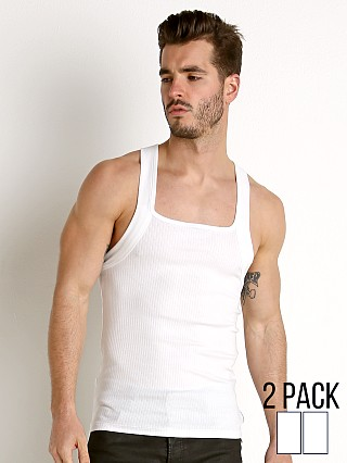 8e7737b6532e0 Calvin Klein Cotton Stretch Square Cut Tank Top 2-Pack White