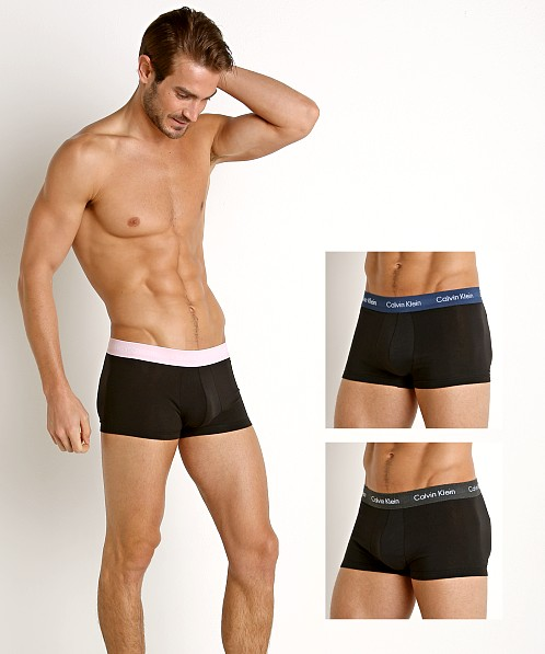 Calvin Klein Cotton Stretch Low Rise Trunk 3-Pack Multi Black