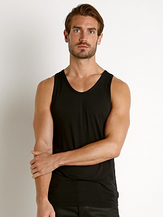 Model in black Calvin Klein Ultra Soft Modal Lounge Tank Top