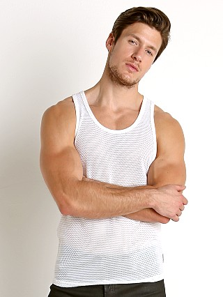 Calvin Klein Body Mesh Tank Top White