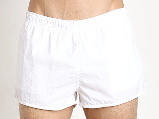 Emporio Armani EA7 Big Logo Swim Shorts White