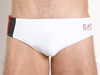 Emporio Armani Color Block Swim Brief White