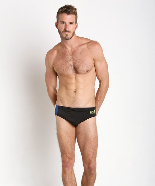 Emporio Armani Color Block Swim Brief Black