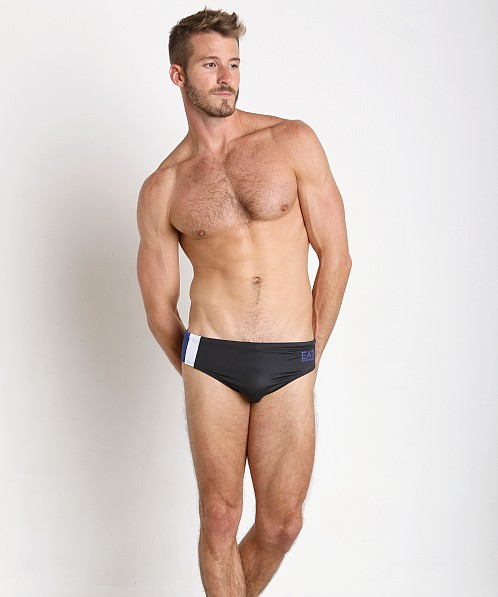 Emporio Armani Color Block Swim Brief Dark Blue