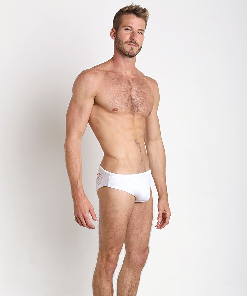 Emporio Armani EA7 Eagle Swim Brief White