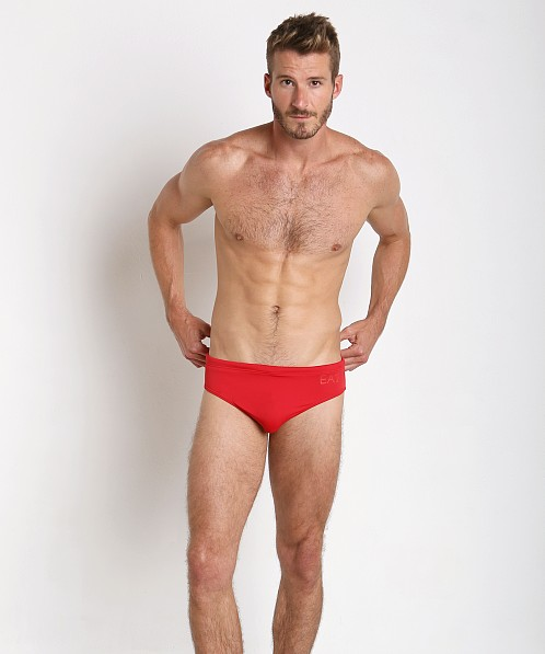 Emporio Armani Luxury Swim Brief Red