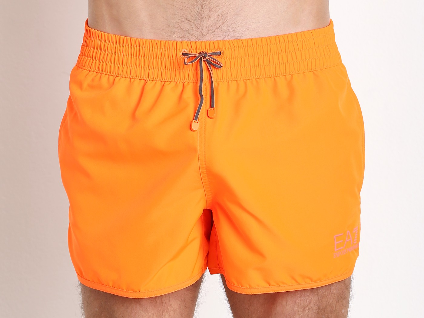 5d68dee8fd0 Emporio Armani Bright Fluo Swim Shorts Red Orange 902007-6P740-00662 at  International Jock
