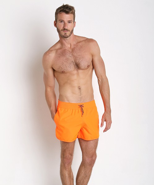 2bd2ef53b0 Emporio Armani Bright Fluo Swim Shorts Red Orange 902007-6P740-00662 at  International Jock