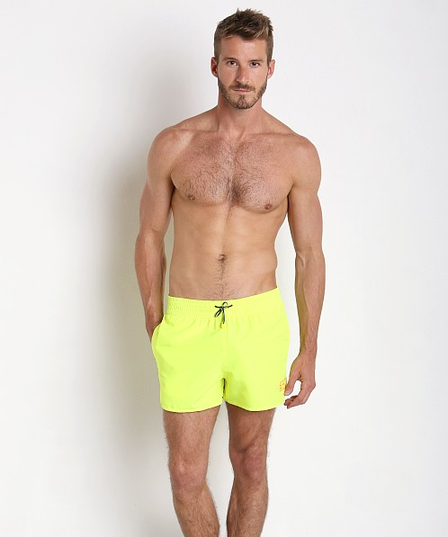 4c95d2b3398 Emporio Armani Bright Fluo Swim Shorts Acid Lime 902007-6P740-07483 at  International Jock