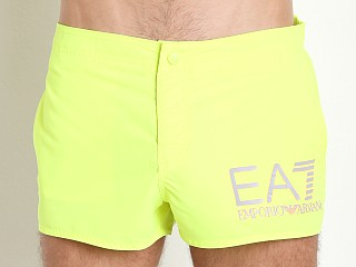 Emporio Armani EA7 Logo Swim Shorts Acid Lime
