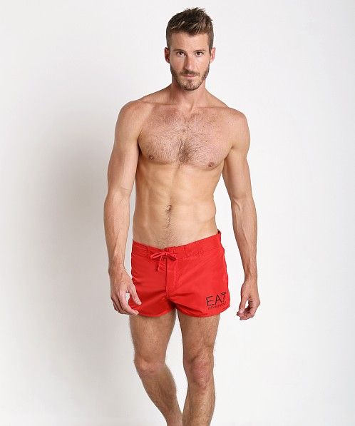 9c0f78186a Emporio Armani Classic Swim Shorts Red 902009-6P732-00074 at International  Jock