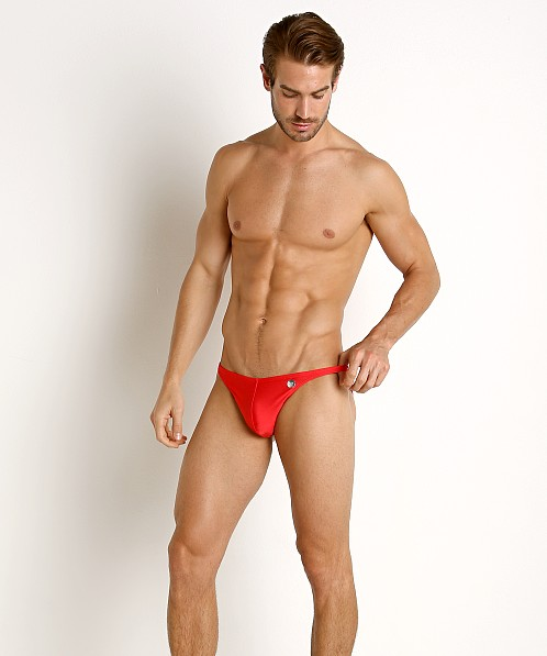 Modus Vivendi Bodybuilder Low Cut Swim Brief Red