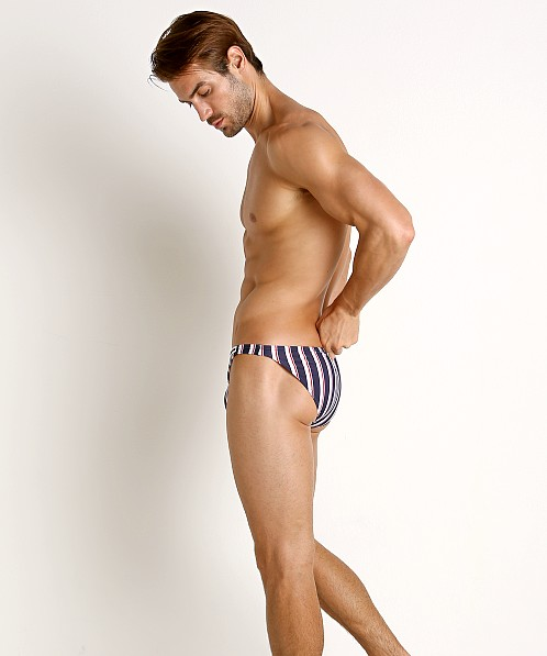 Modus Vivendi Marine Stripes Low Cut Swim Brief Blue