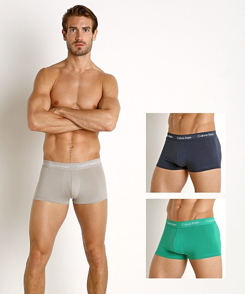 Calvin Klein Cotton Stretch Low Rise Trunk 3-Pack Grey/Tourney/I