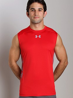 Under Armour Heatgear Flyweight Sleeveless T Red