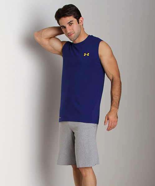 Under Armour Charged Cotton Sleeveless T Caspian Blue