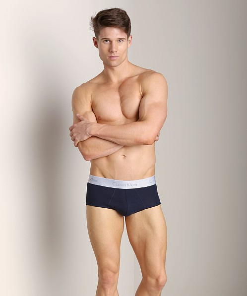 Calvin Klein Superior Cotton Square Cut Blue Shadow